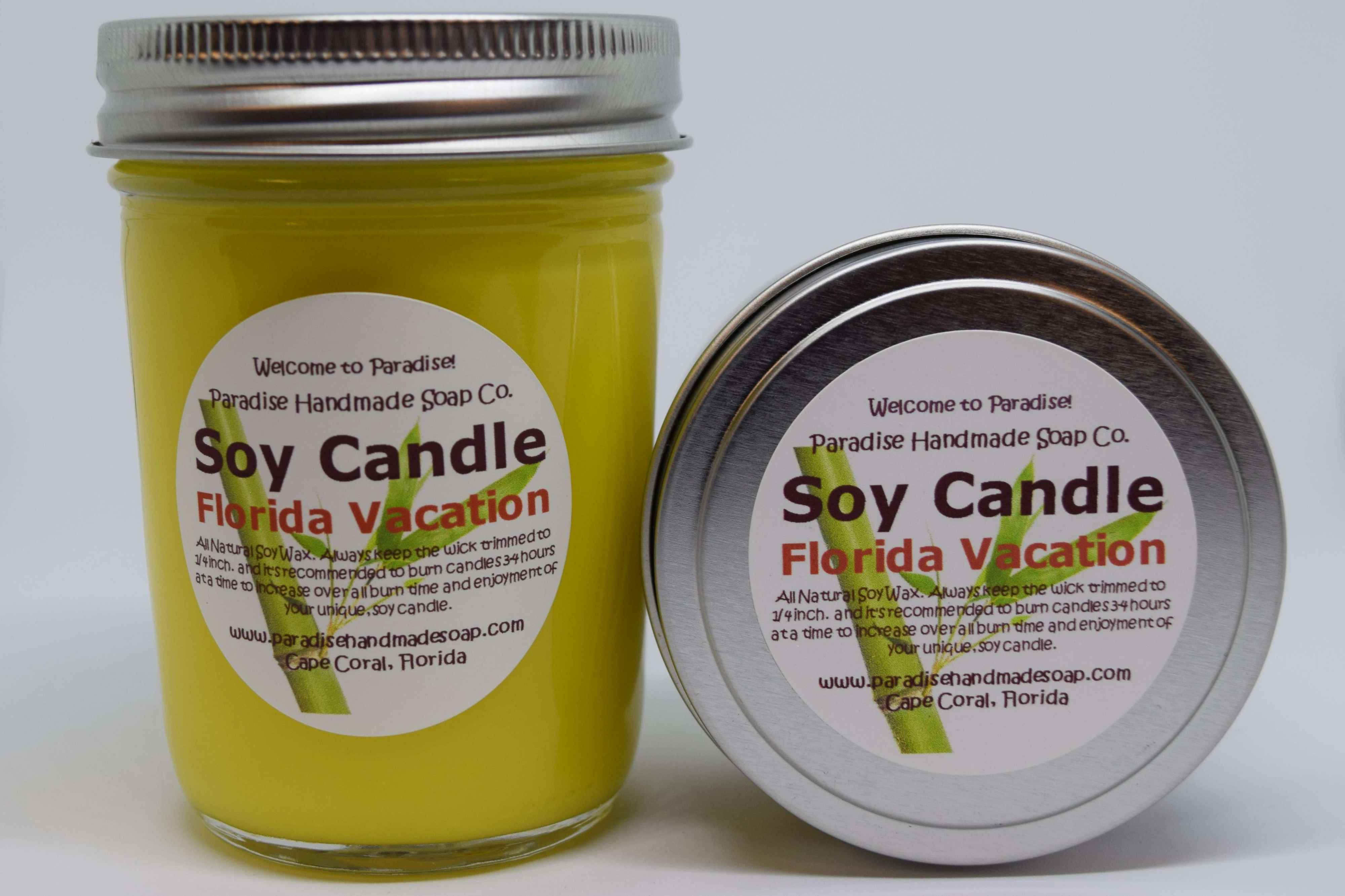Florida Vacation Candle