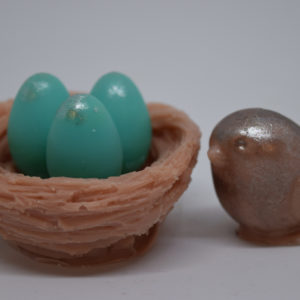 Bird and a nest with eggs novelty glycerin soaps