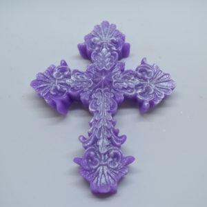 Decorative cross novelty glycerin soap.